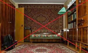 Carpets on the walls - the last century. 6 brilliant ideas decoration wall behind the sofa