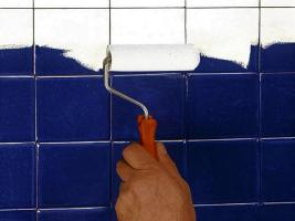 Cheap, but it is practical and how to paint the tiles in the bathroom. 3 common mistakes