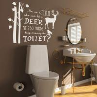 6 cool design ideas for the decor of your bathroom, with stickers.
