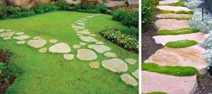 From what we can make unusual garden paths?
