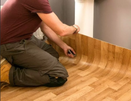 How to put linoleum on a substrate of chipboard