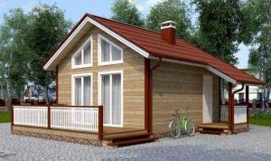 House for smart and economical. 6x6 m for 2 people with a second light